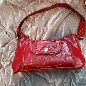 Perlina red handbag